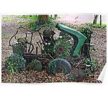 Retired Old Ride On Mower  Poster