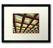 Grid system Framed Print