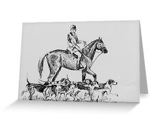 Horse and Hounds Greeting Card