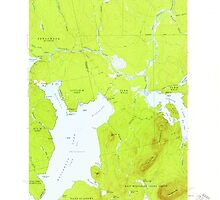 Maine USGS Historical Map North East Carry 460680 1954 62500 by wetdryvac