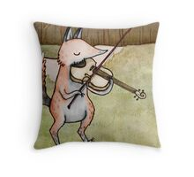 Violin Fox Throw Pillow