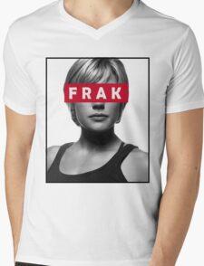 Starbuck - Frak - Battlestar Galactica Mens V-Neck T-Shirt