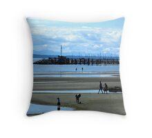 White Rock Beach Throw Pillow