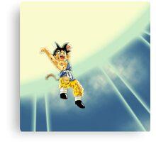 Cartoon: Goku Jr. Genkidama - Amazing Covers, Stickers etc. Canvas Print