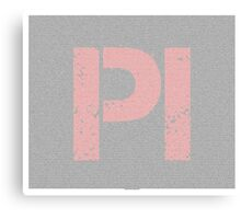 Pi to 100000 - 100k - digits on white Canvas Print