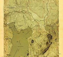 Maine USGS Historical Map North East Carry 806979 1954 48000 by wetdryvac