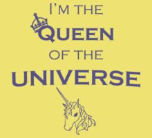 """""""I'm the QUEEN of the UNIVERSE"""" - Funny Clothes and Cases Kids Tee"""