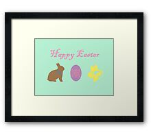 Bunny, Egg and Daffodil: Easter Line Framed Print