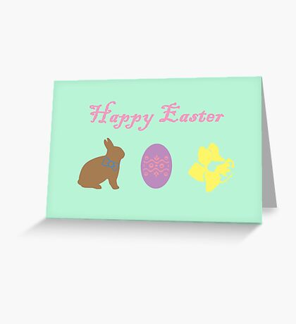 Bunny, Egg and Daffodil: Easter Line Greeting Card
