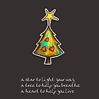 Christmas Card - Chocolate Wish Tree by Karin  Taylor