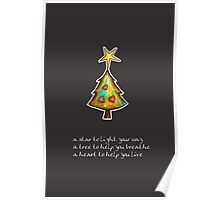 Christmas Card - Chocolate Wish Tree Poster