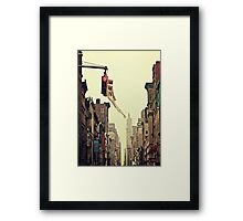 On Broadway Framed Print