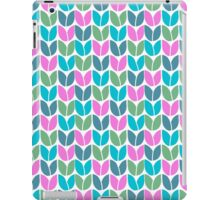Tulip Knit (Blue Pink Green) iPad Case/Skin