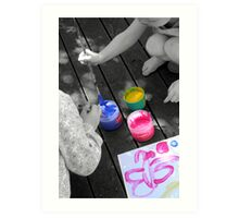Young Artists at Work Art Print