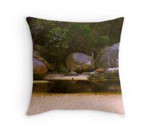 Tidal River Rocks 02 Throw Pillow