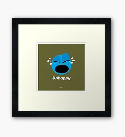 Emotions, Unhappy. Framed Print