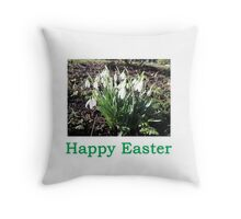 SnowDrops (Easter) Throw Pillow