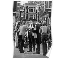 Street festival in Amsterdam Poster