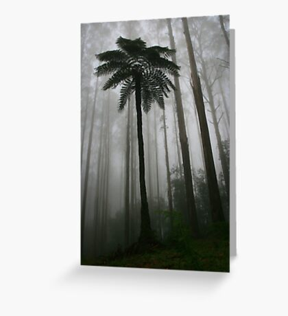 tree fern and mountain ash Greeting Card