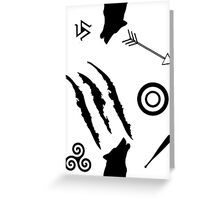 Teen Wolf Symbols Greeting Card