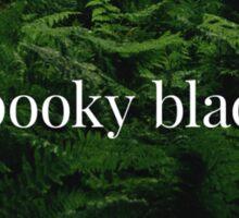 Spooky Black Sticker