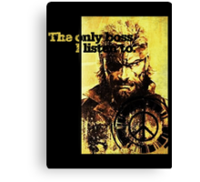 MGS The only boss Canvas Print