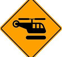 Helicopter Sign by ukedward