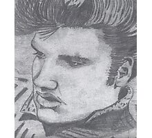 Black and White Elvis  Photographic Print