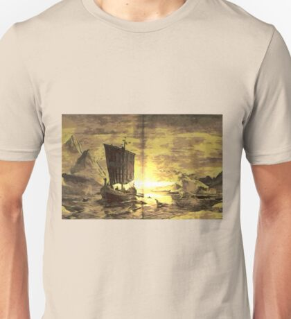 A digital painting of The Discovery of Greenland Unisex T-Shirt