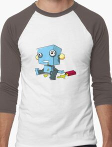 Robot Happy Hour Men's Baseball ¾ T-Shirt