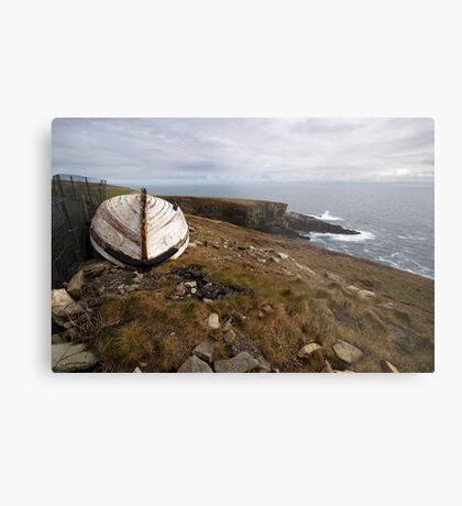 The old boat at Mizen Head Metal Print