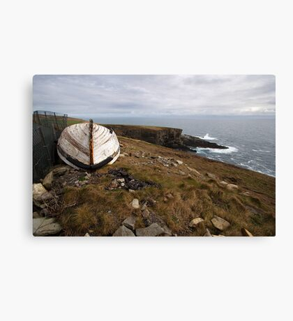 The old boat at Mizen Head Canvas Print