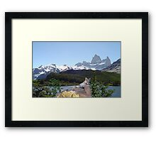 1042B-Cougar Lake Framed Print