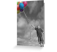 Up Up and Awayyyyy Greeting Card