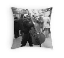 The running Cello Throw Pillow