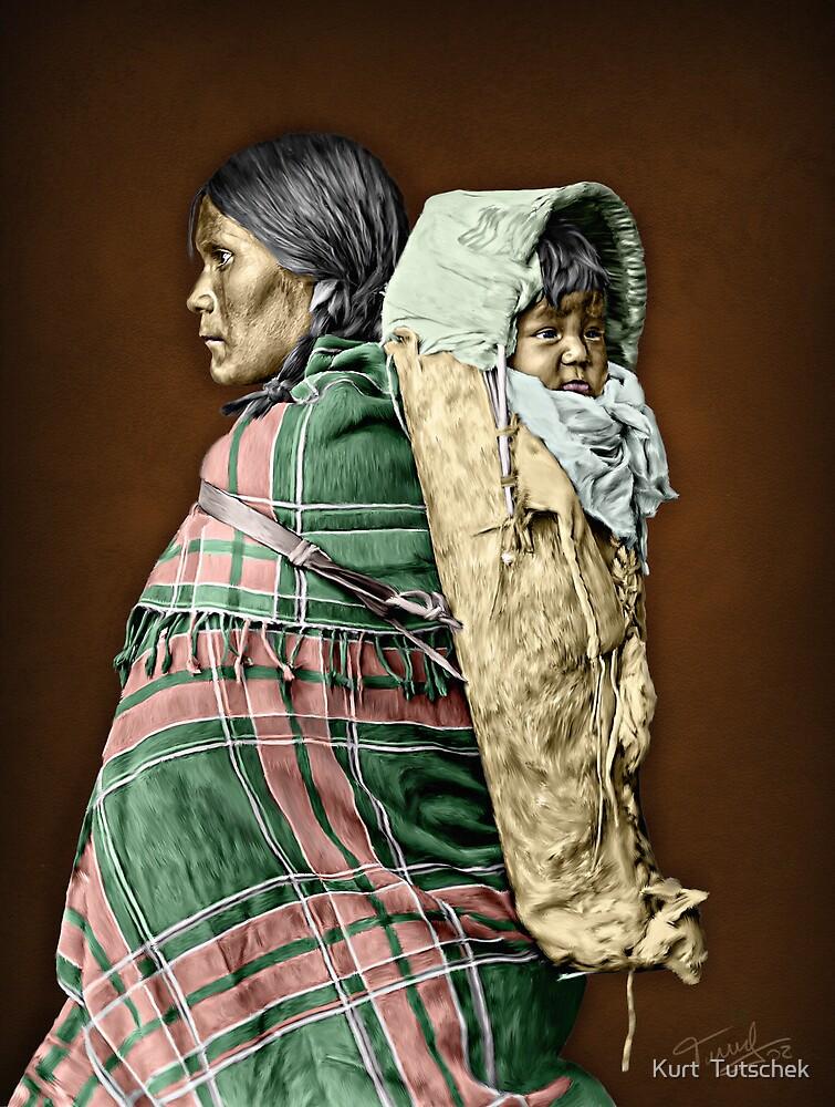 Ute woman and child by Kurt  Tutschek