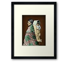 Ute woman and child Framed Print