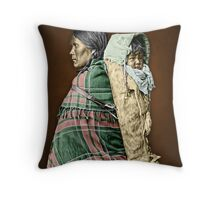 Ute woman and child Throw Pillow