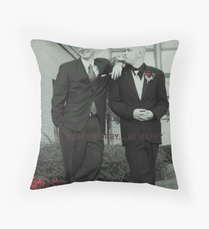 GROOM AND THE JOKER Throw Pillow