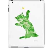 Little cat playing watercolor art print painting iPad Case/Skin
