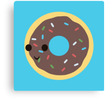Cute Chocolate Glazed donut with sprinkles Canvas Print