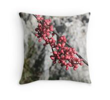 Mountain Berries Throw Pillow