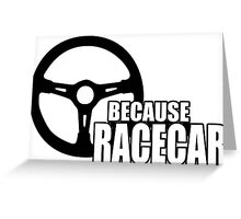 Because Racecar Greeting Card