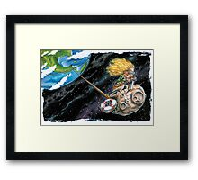 Tugboat Moon Framed Print