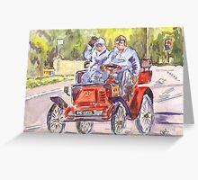 Vintage Car Rally Greeting Card