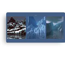 Tripytch - Glacier Meltdown Canvas Print