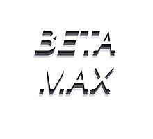 BETAMAX Typographic Design by grubz