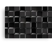 Black glossy mosaic Canvas Print