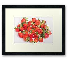 Red Ripe Strawberries Framed Print