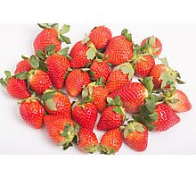 Red Ripe Strawberries Photographic Print